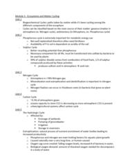 ENVIRSC 2EI3 Lecture Notes - Lecture 3: Biochemical Oxygen Demand, Nitrogen Fixation, Nitrogen Cycle