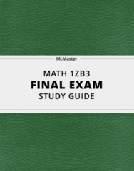MATH 1ZB3- Final Exam Guide - Comprehensive Notes for the exam ( 345 pages long!)