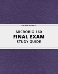 MICROBIO 160- Final Exam Guide - Comprehensive Notes for the exam ( 24 pages long!)