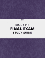 BIOL 1115- Final Exam Guide - Comprehensive Notes for the exam ( 102 pages long!)