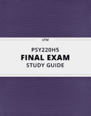 PSY220H5- Final Exam Guide - Comprehensive Notes for the exam ( 52 pages long!)