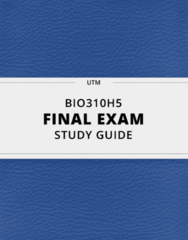 BIO310H5- Final Exam Guide - Comprehensive Notes for the exam ( 27 pages long!)