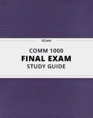 COMM 1000- Final Exam Guide - Comprehensive Notes for the exam ( 64 pages long!)