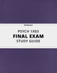 PSYCH 1X03- Final Exam Guide - Comprehensive Notes for the exam ( 167 pages long!)