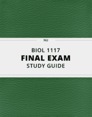 BIOL 1117- Final Exam Guide - Comprehensive Notes for the exam ( 95 pages long!)
