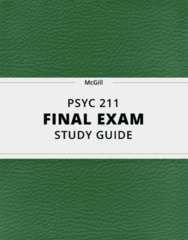 PSYC 211- Final Exam Guide - Comprehensive Notes for the exam ( 325 pages long!)