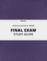 Political Science 1020E- Final Exam Guide - Comprehensive Notes for the exam ( 96 pages long!)