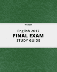 English 2017- Final Exam Guide - Comprehensive Notes for the exam ( 43 pages long!)