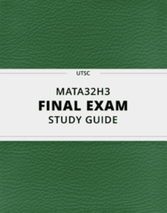 MATA32H3- Final Exam Guide - Comprehensive Notes for the exam ( 119 pages long!)