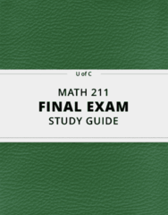MATH 211- Final Exam Guide - Comprehensive Notes for the exam ( 73 pages long!)