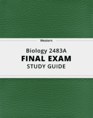 Biology 2483A- Final Exam Guide - Comprehensive Notes for the exam ( 75 pages long!)