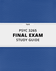 PSYC 3265- Final Exam Guide - Comprehensive Notes for the exam ( 96 pages long!)
