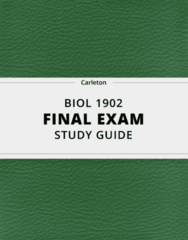 BIOL 1902- Final Exam Guide - Comprehensive Notes for the exam ( 60 pages long!)