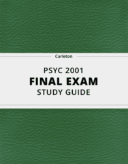 PSYC 2001- Final Exam Guide - Comprehensive Notes for the exam ( 114 pages long!)