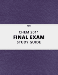 CHEM 2011- Final Exam Guide - Comprehensive Notes for the exam ( 109 pages long!)