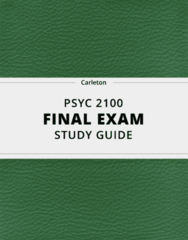 PSYC 2100- Final Exam Guide - Comprehensive Notes for the exam ( 84 pages long!)