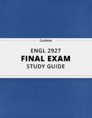 ENGL 2927- Final Exam Guide - Comprehensive Notes for the exam ( 65 pages long!)