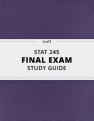 STAT 245- Final Exam Guide - Comprehensive Notes for the exam ( 152 pages long!)