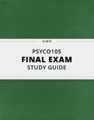 PSYCO105- Final Exam Guide - Comprehensive Notes for the exam ( 32 pages long!)