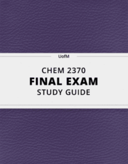 CHEM 2370- Final Exam Guide - Comprehensive Notes for the exam ( 23 pages long!)