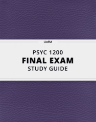 PSYC 1200- Final Exam Guide - Comprehensive Notes for the exam ( 49 pages long!)