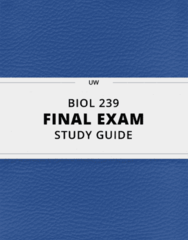 BIOL 239- Final Exam Guide - Comprehensive Notes for the exam ( 26 pages long!)