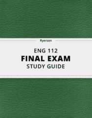 ENG 112- Final Exam Guide - Comprehensive Notes for the exam ( 24 pages long!)