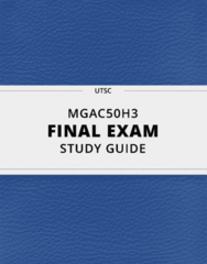 MGAC50H3- Final Exam Guide - Comprehensive Notes for the exam ( 86 pages long!)