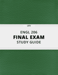 ENGL 206- Final Exam Guide - Comprehensive Notes for the exam ( 45 pages long!)