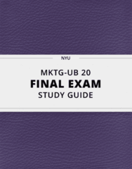 MKTG-UB 20- Final Exam Guide - Comprehensive Notes for the exam ( 31 pages long!)