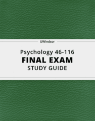 Psychology 46-116- Final Exam Guide - Comprehensive Notes for the exam ( 315 pages long!)