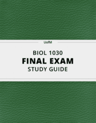 BIOL 1030- Final Exam Guide - Comprehensive Notes for the exam ( 117 pages long!)