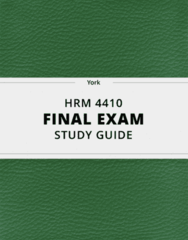 HRM 4410- Final Exam Guide - Comprehensive Notes for the exam ( 29 pages long!)