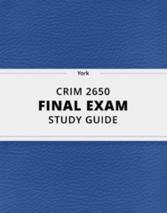 CRIM 2650- Final Exam Guide - Comprehensive Notes for the exam ( 67 pages long!)
