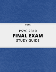 PSYC 2310- Final Exam Guide - Comprehensive Notes for the exam ( 38 pages long!)