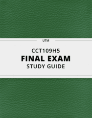 CCT109H5- Final Exam Guide - Comprehensive Notes for the exam ( 102 pages long!)