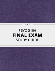 PSYC 3100- Final Exam Guide - Comprehensive Notes for the exam ( 26 pages long!)