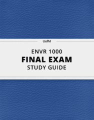 ENVR 1000- Final Exam Guide - Comprehensive Notes for the exam ( 76 pages long!)