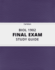 BIOL 1902- Final Exam Guide - Comprehensive Notes for the exam ( 161 pages long!)
