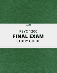 PSYC 1200- Final Exam Guide - Comprehensive Notes for the exam ( 262 pages long!)