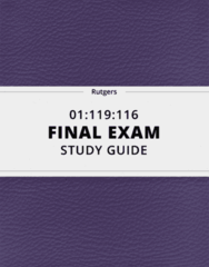 01:119:116- Final Exam Guide - Comprehensive Notes for the exam ( 49 pages long!)