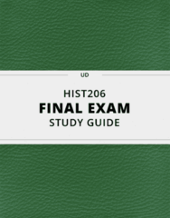 HIST206- Final Exam Guide - Comprehensive Notes for the exam ( 55 pages long!)