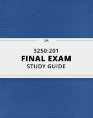 3250:201- Final Exam Guide - Comprehensive Notes for the exam ( 44 pages long!)
