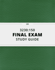 3230:150- Final Exam Guide - Comprehensive Notes for the exam ( 35 pages long!)