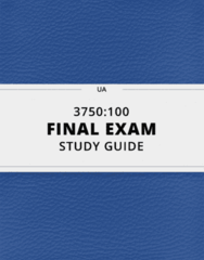 3750:100- Final Exam Guide - Comprehensive Notes for the exam ( 47 pages long!)