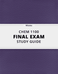CHEM 1100- Final Exam Guide - Comprehensive Notes for the exam ( 54 pages long!)