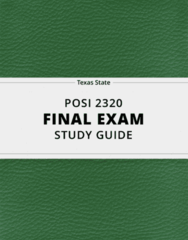 POSI 2320- Final Exam Guide - Comprehensive Notes for the exam ( 22 pages long!)