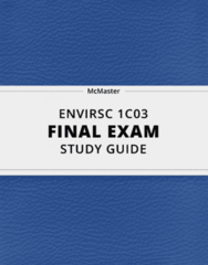 ENVIRSC 1C03- Final Exam Guide - Comprehensive Notes for the exam ( 49 pages long!)