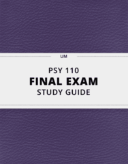 PSY 110- Final Exam Guide - Comprehensive Notes for the exam ( 60 pages long!)