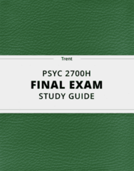 PSYC 2700H- Final Exam Guide - Comprehensive Notes for the exam ( 44 pages long!)